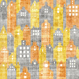 Urban architecture - seamless pattern - papyrus texture Royalty Free Stock Images