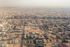 Urban area aerial view stock images