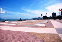 Urban area on the beach in Nha Trang. The main town square on the seafront in Nha Trang Vietnam Stock Photography