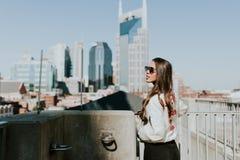 Urban Area, City, Girl, Tourism Royalty Free Stock Image