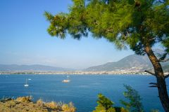Fethiye views of the sea, Mugla, Turkey stock images