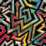 Urban arrow seamless pattern with grunge effect Stock Image