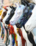 Urban art. Plastic horses in streets of Novi Sad Stock Photography
