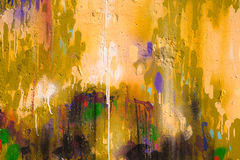 Urban art. Color painting background, special toned focus point on center Royalty Free Stock Photography