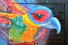 Urban art. Abstract parakeet royalty free stock image