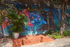 Urban Art of Cartagena de Indias Royalty Free Stock Photography