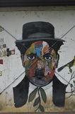 Urban Art : Chaplin multi-colored stock photography