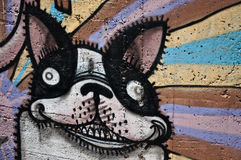 Urban art - dog Stock Photography