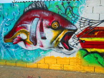 Urban art, fish Stock Images