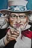 Urban art - man's face Royalty Free Stock Images