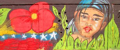 Urban Art . native girl. stock photography