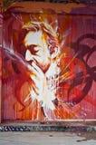 Urban art - Serge Gainsbourg face Stock Image