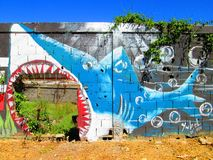 Urban ARt. shark. stock photography