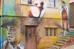 Urban Art of Valparaiso Stock Photo