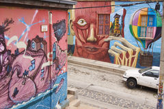 Urban Art of Valparaiso Royalty Free Stock Photography