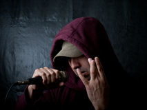 Urban artist - rapper Stock Image