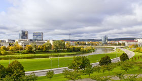 Urban autumn landscape Royalty Free Stock Photo