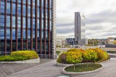 Urban autumn landscape Stock Images