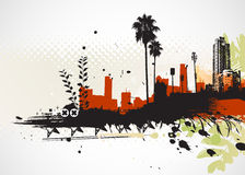 Urban background. Vector illustration of styled Tropical grunge urban background Royalty Free Stock Image