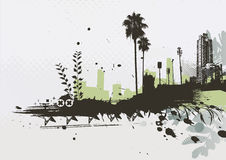 Urban background. Vector illustration of styled Tropical grunge urban background Stock Images