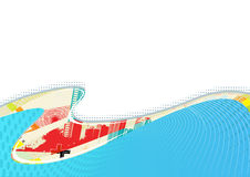 Urban background. Vector illustration of urban Colorful and funky background design Stock Image