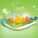 Urban background. Colorful urban city abstract background,illustration Royalty Free Stock Photography