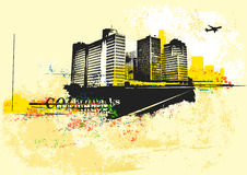 Urban background. Big City - Grunge styled urban background. Vector illustration vector illustration
