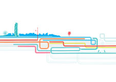 Urban background. Vector illustration of color lines with style urban background Stock Photography