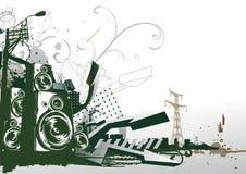 Urban background. Vector illustration of style urban background Stock Photos