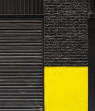 Urban background black and yellow Royalty Free Stock Photo