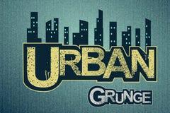 Urban background on grange texture Stock Photo