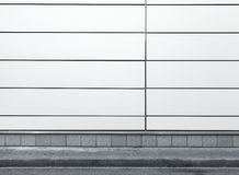 Urban background interior with white metal wall Stock Images