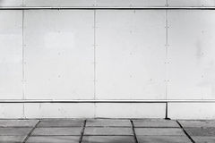 Urban background interior with white metal wall Royalty Free Stock Image