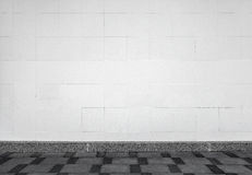 Urban background interior with white tiling on the wall Stock Images