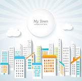 Urban background. Town panorama. Royalty Free Stock Images