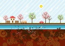 Urban background, vector Stock Photos
