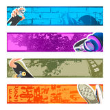 Urban banner backgrounds Royalty Free Stock Photo