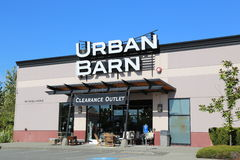 Urban Barn. Store in port coquitlam BC Canada royalty free stock photography