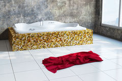 Urban Bathroom with towel Royalty Free Stock Photography