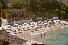 Urban beach in the Bulgarian town of Tsarevo Royalty Free Stock Image
