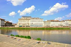 Urban beach in Florence, Italy Royalty Free Stock Image