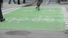 Urban Bicycle Crossing, Vancouver stock video
