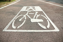 Urban bicycle lane Stock Photography