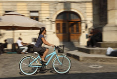 Urban bicycle ride Royalty Free Stock Images