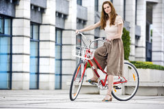 Urban bicycle ride Stock Photos