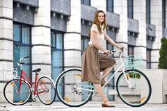 Urban bicycle ride Stock Photography