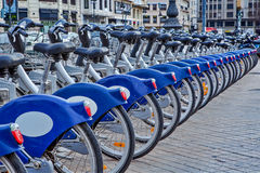 Urban bicycles in Valencia, Spain. Royalty Free Stock Photo