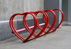 Urban bike rental station Royalty Free Stock Photos