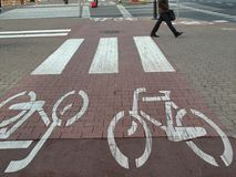 Urban biking trail Royalty Free Stock Photo