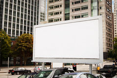 Urban Billboard. A blank billboard in an urban city environment stock image